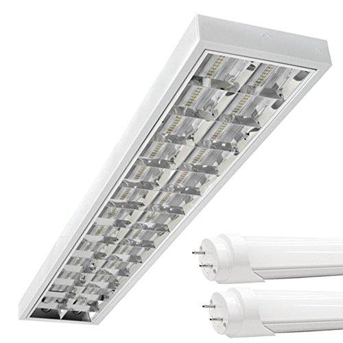 PureLed LED Rasterleuchten mit 2X T8 LED 120cm 18W...