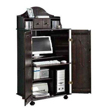 PC-Schrank aus massiver Kiefer mit Aufsatz...
