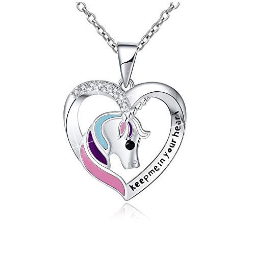 925 Silber Einhorn Halskette Geschenke Geschenke...