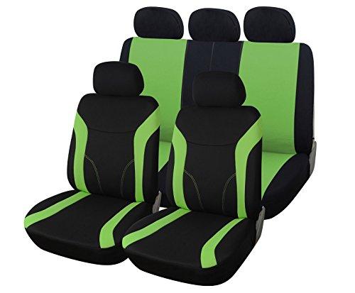 Upgrade4cars Auto-Sitzbezüge Set Grün Schwarz |...