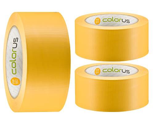 3 x Colorus PVC-Schutzband PLUS | Putzband 50 mm x...