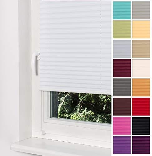 Home-Vision Premium Plissee Faltrollo ohne Bohren...