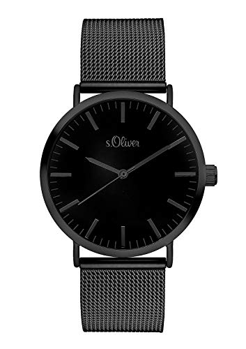 S.Oliver Damen Analog Quarz Armbanduhr SO-3216-MQ,...