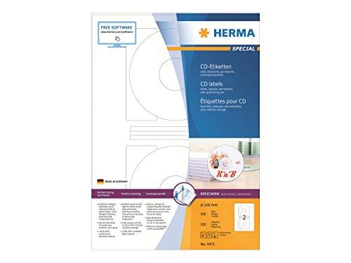 HERMA 4471 CD-/DVD-Etiketten inkl....
