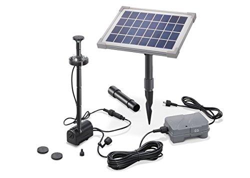 Solar Teichpumpe 5 Watt Solarmodul 160 l/h...
