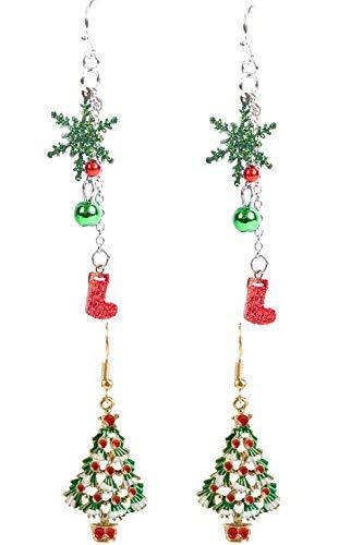 CMTOP 2 Paar Weihnachten Ohrring Ohrstecker 925...