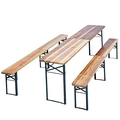 JOM Bierzeltgarnitur, 1 x Tisch/ 2 x Bänke,...
