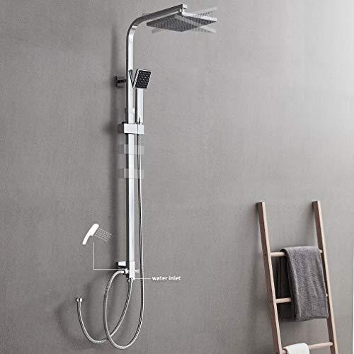 Auralum 2-Funktionen Quadrat Duschsystem mit...