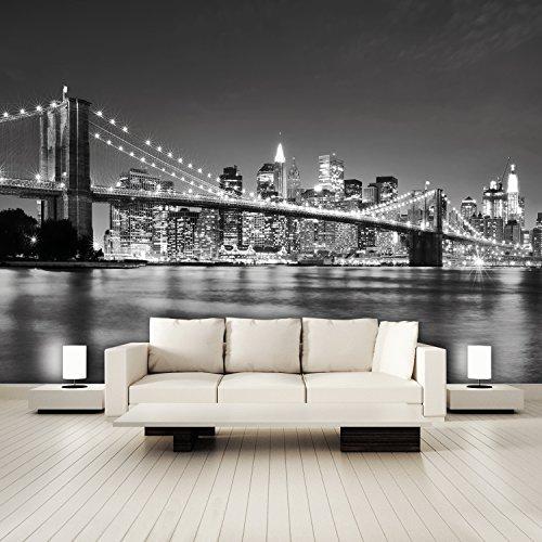 murimage Fototapete New York schwarz weiß 366 x...