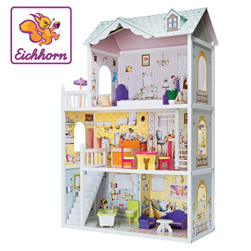 Eichhorn 100002510 - Puppenhaus aus Holz,...