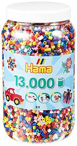 Hama Perlen 211-00 Bügelperlen XXL Dose mit ca....