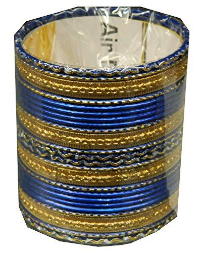 Indische Bangles 24 Armreifen Royal blau 7,0 cm...