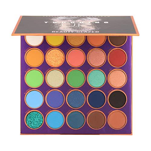 25 Farben Lidschatten Palette Bunt Eyeshadow...