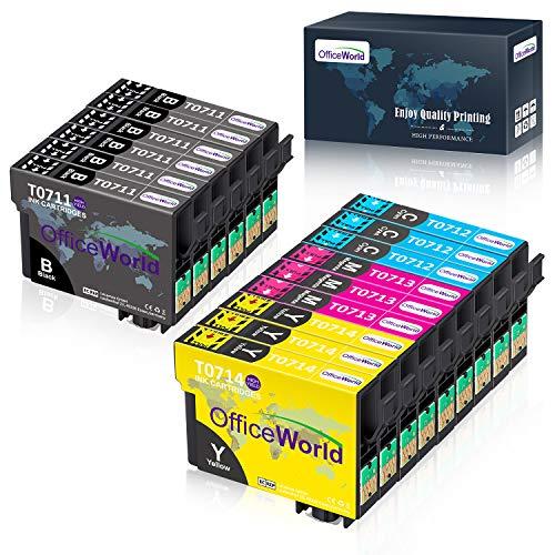 OfficeWorld Ersatz für Epson T0711 T0712 T0713...