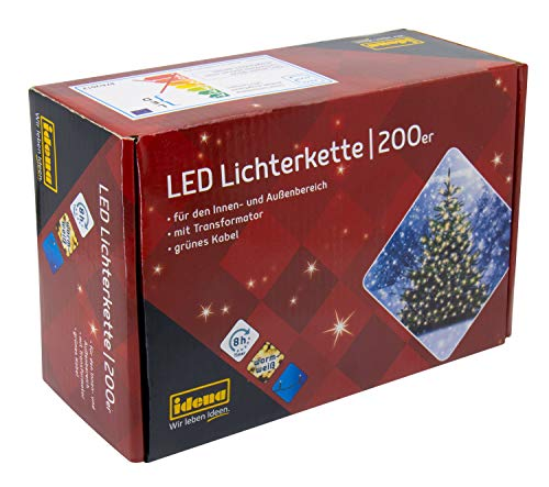 Idena 8325066 - LED Lichterkette mit 200 LED in...