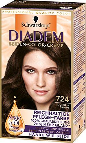 Diadem Seiden-Color-Creme, 724 Dunkelbraun, 3er...