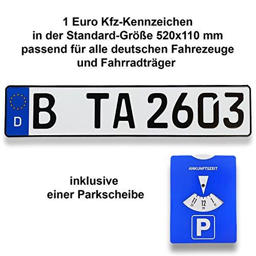 TA TradeArea 1 DIN-zertifiziertes Kfz-Kennzeichen...
