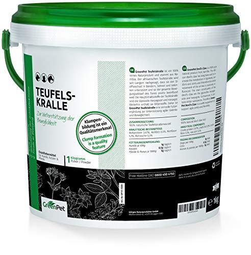 GreenPet Teufelskralle 1 kg Teufelskrallenpulver...