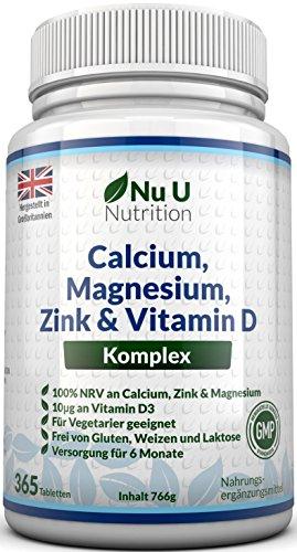 Calcium, Magnesium, Zink & Vitamin D...