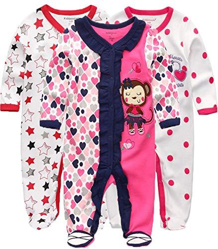 Kiddiezoom Baby Jungen sleepsuit set von 3 s 0-3...