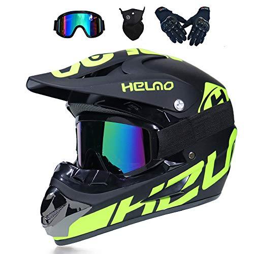 MRDEER Motocross Helm, Adult Off Road Helm mit...