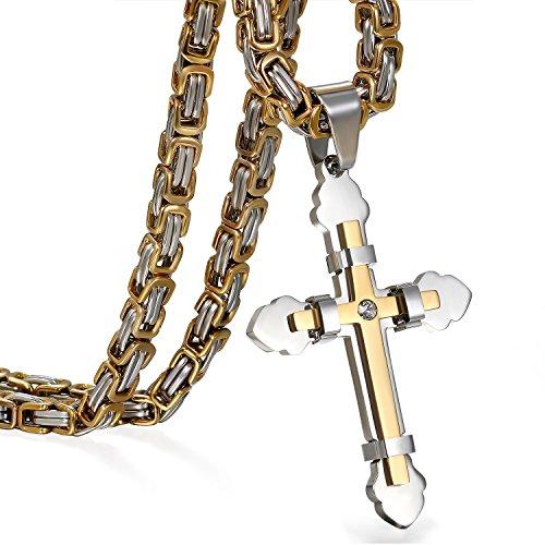 JewelryWe Schmuck Herren Anhänger Halskette...