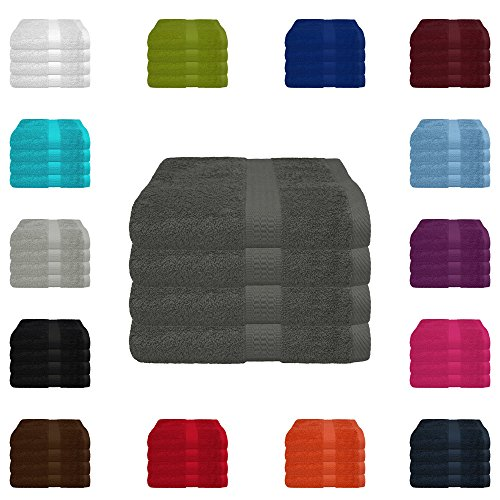 4 tlg. Handtuch-Set in vielen Farben - 4...