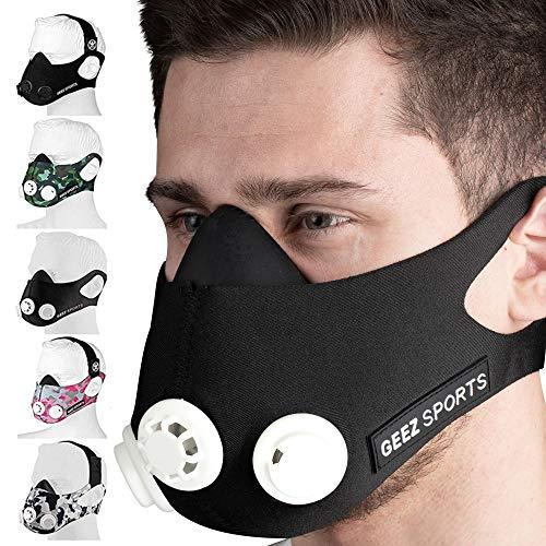 Geez Trainingsmaske Training Mask Atemmaske...