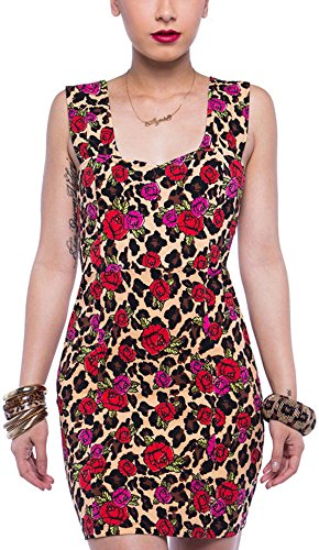 Iron Fist Kleid Leopard Garden Dress Schwarz L