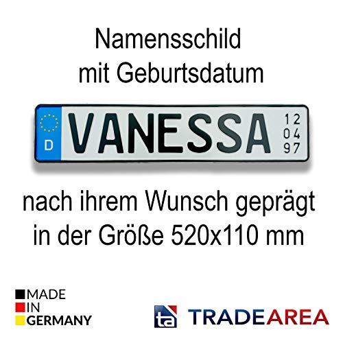 TA TradeArea Namensschild mit Geburtsdatum...