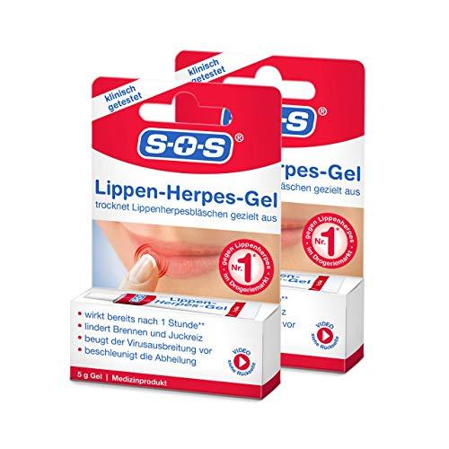 SOS Lippen-Herpes-Gel, 2 x 5g Tube, Linderung von...