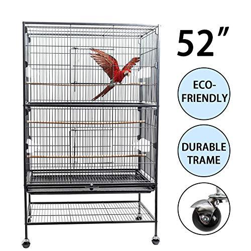 D4P Display4top Schwarzer großer Vogelkäfig aus...