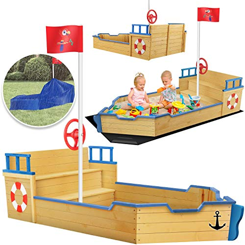 KIDIZ® Sandkasten Ahoi - Piratenschiff Boot...