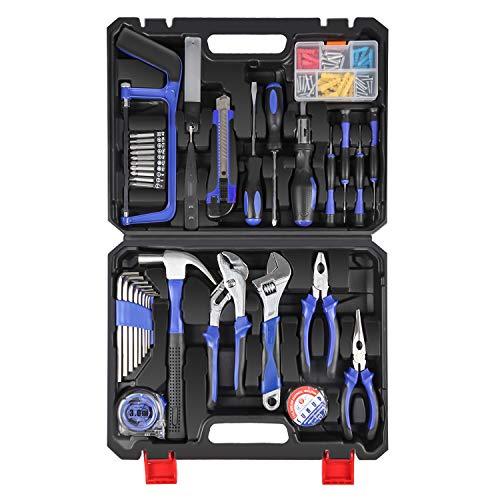 LETTON Werkzeugkoffer Werkzeugsatz Handwerkzeug...