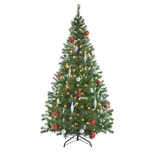 Casaria Weihnachtsbaum 150 cm Ständer LED...