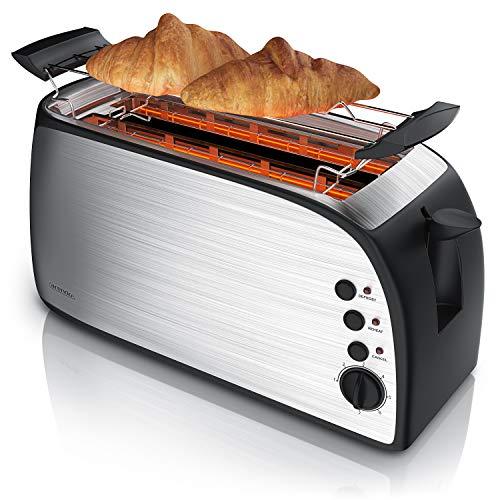 Arendo - Automatik Toaster Langschlitz - Defrost...