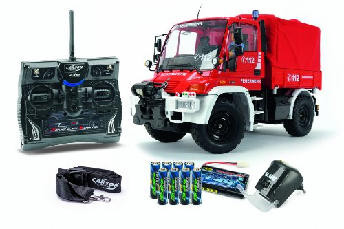 Carson 500707109 - 1:12 Unimog Feuerwehr 100% RTR,...