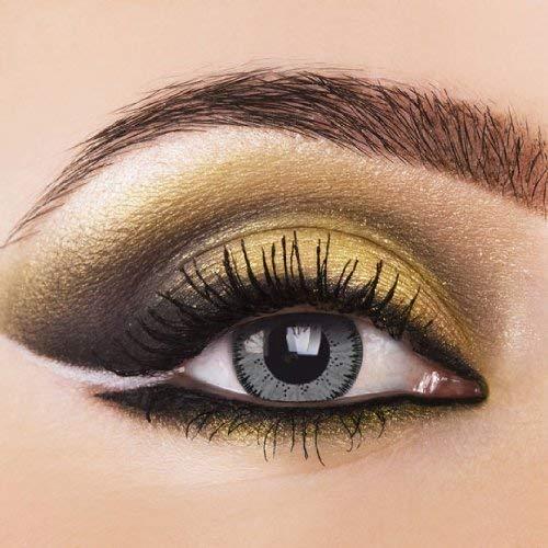 2x Grau Kontaktlinsen'Vivid Grey' 2 farbige...