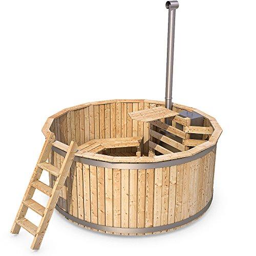 Badezuber Badefass Holz Badetonne 190 oder 240 cm...