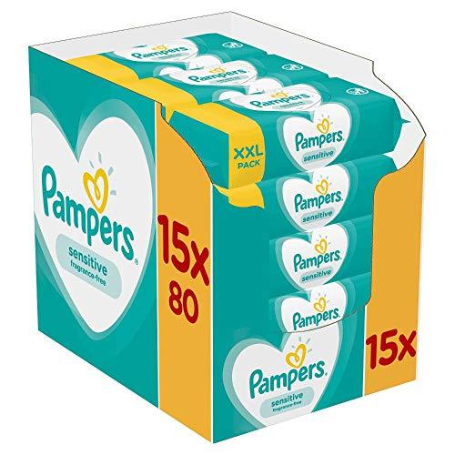 Pampers Sensitive Feuchttücher 15 Packungen Mit...
