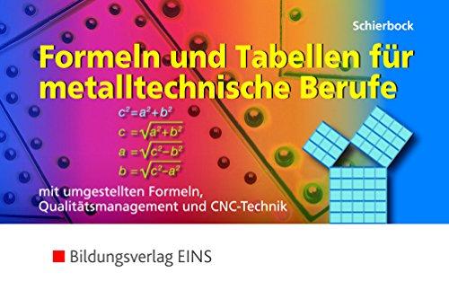 Formeln und Tabellen für metalltechnische Berufe...