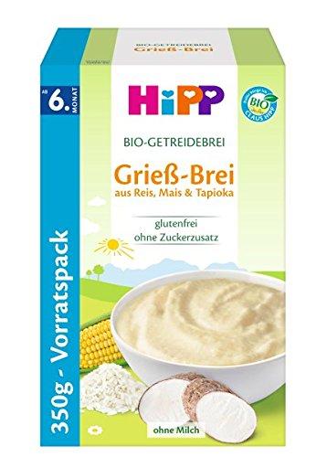 HiPP Bio-Getreide-Breie Grieß-Brei, 4er Pack (4 x...