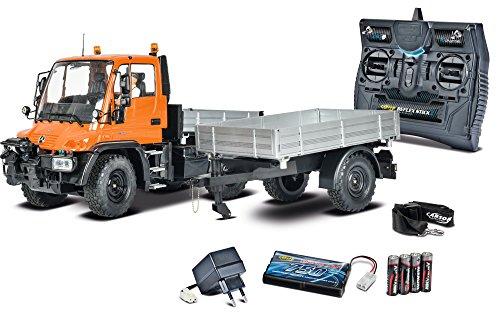 Carson 500907213 - 1:12 Unimog U300 mit Anhänger...