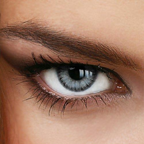 Farbige Jahres-Kontaktlinsen DIAMOND Light Gray -...