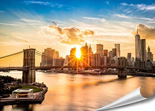 XXL Poster New York Skyline Brooklyn Bridge 140cm...