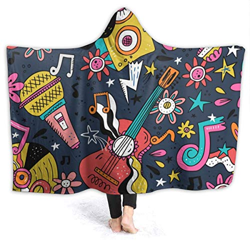 TYHG Flanell-Fleece-Decke mit Kapuze, lustiges...