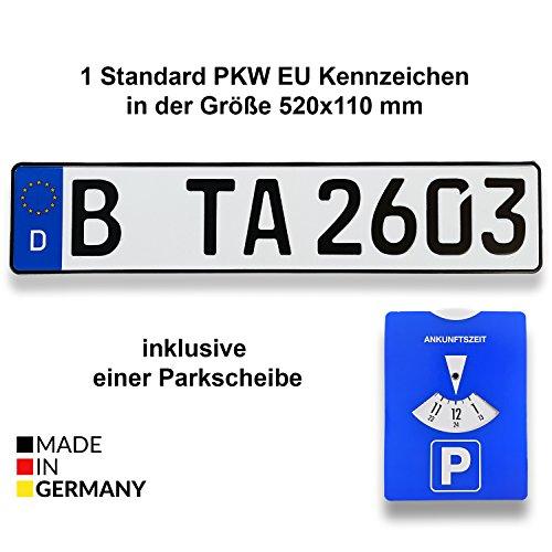 TA TradeArea 1 Standard PKW EU Kennzeichen in der...