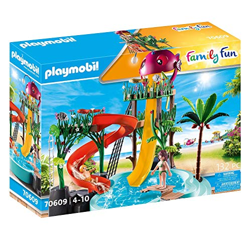 PLAYMOBIL Family Fun 70609 Aqua Park mit Rutschen,...