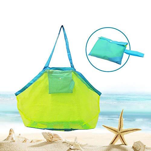 Sandspielzeug Netztasche Große Strandtasche Grün...
