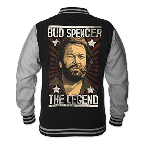Bud Spencer Herren Legend College Jacket (schwarz)...